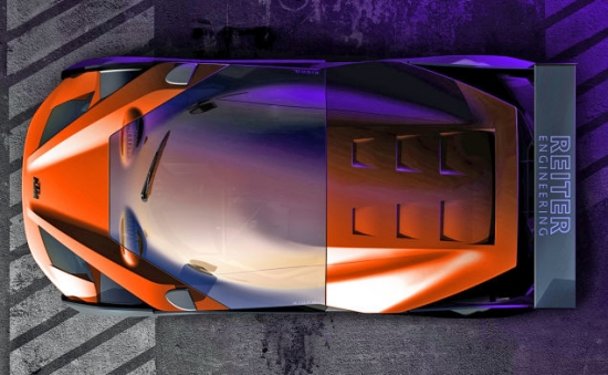 Kính chắn gió của siêu xe KTM X-Bow GT4 kéo dài đến tận phía sau