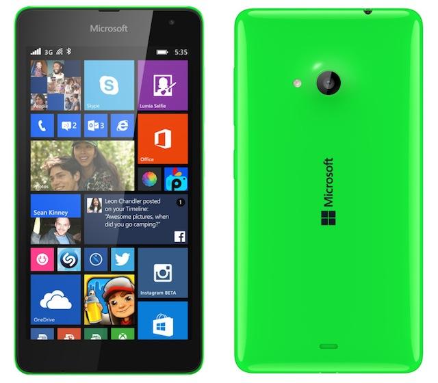 Lumia 535 sở hữu camera trước và sau đều có độ phân giải 5 MP
