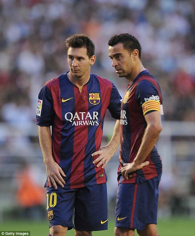 Messi và Xavi đã có trên dưới 10 năm gắn bó với Barcelona.