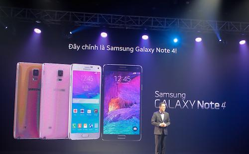 Samsung Việt Nam tổ chức lễ ra mắt Galaxy Note 4