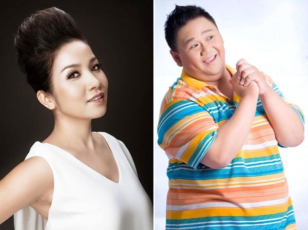 Diva Mỹ Linh và nghệ sĩ hài Minh béo