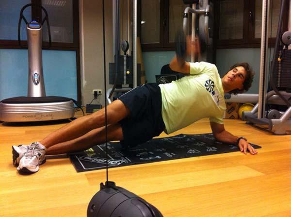 Rafael Nadal đang tập luyện rất chăm chỉ