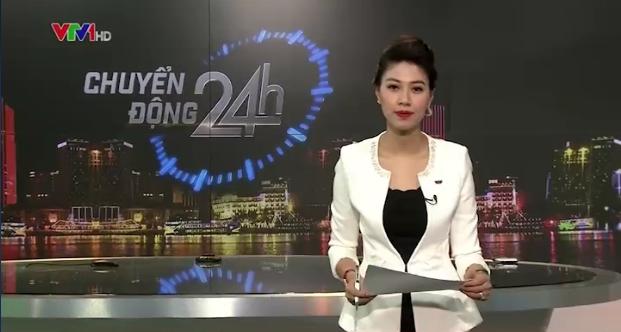 MC Ngọc Trinh là người dẫn chính của bản tin Chuyển động 24h chiều 3/11