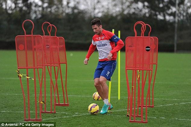 Olivier Giroud đã có thể luyện tập trở lại