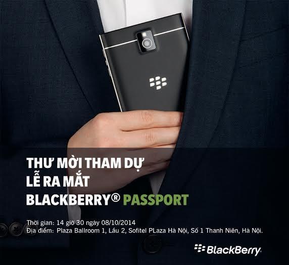 Thư mời tham dự Lễ ra mắt BlackBerry Passport tại Hà Nội