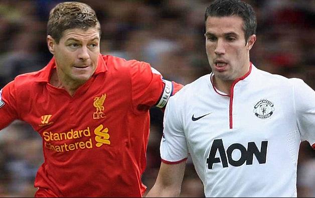 Steven Gerrard và Van Persie sẽ lại đối đầu vào Chủ nhật tới