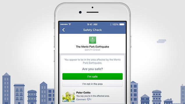 Tính năng mới trên Facebook giúp người dùng thông báo với người thân rằng mình đang an toàn