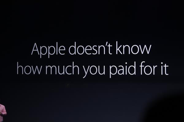 Apple không biết người dùng thanh toán bao nhiêu
