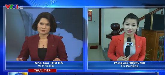 Nối cầu trực tiếp từ trường quay tới các địa phương để ghi nhận ý kiến cử tri trong bản tin đặc biệt (Ảnh: VTV News)