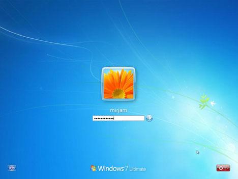 Nhập mật khẩu mới để đăng nhập Windows