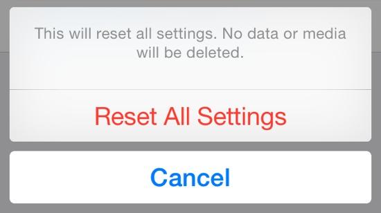 Người dùng phàn nàn việc tùy chọn Reset All Settings trên iOS 8 xóa dữ liệu trên iCloud Drive
