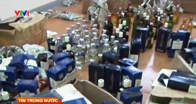 Số rượu ngoại bị thu giữ tại Hà Tĩnh.
