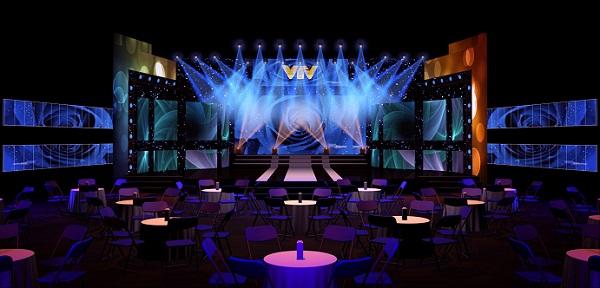 Mô hình sân khấu Lễ trao giải của Ấn tượng VTV