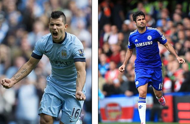 Aguero và Diego Costa đang là 2 chân sút đình đám nhất tại Premier League 2014/15.