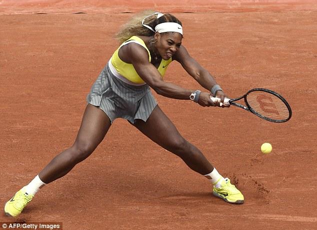 Serena Williams tỏ ra vô cùng thất vọng sau trận đấu.