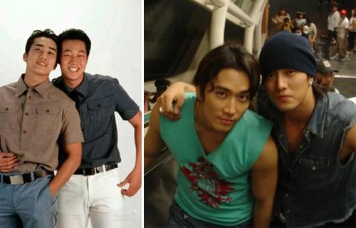So Ji Sub và Song Seung Hun trong những bức ảnh cũ.