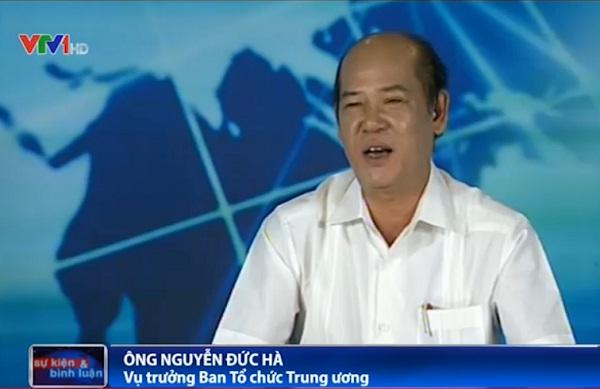 Ông Nguyễn Đức Hà - Vụ Trưởng Ban Tổ chức Trung ương