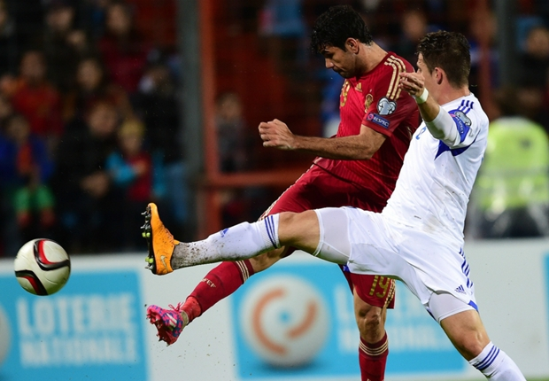 Diego Costa có bàn thắng đầu tiên sau 518 phút khô hạn trong màu áo ĐTQG TBN.