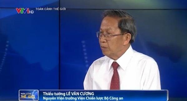 TS - Thiếu tướng Lê Văn Cương - Nguyên Viện trưởng Viện nghiên cứu chiến lược - Bộ Ngoại giao (Ảnh: VTV News)