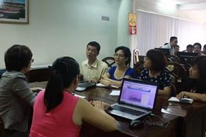 Nhóm Thư ký đại biểu tại buổi tập huấn