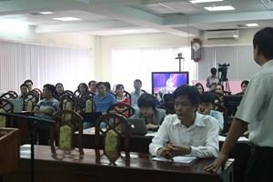 Các nhóm tham gia tập huấn gặp mặt đoàn công tác của ĐTHVN tại Trung tâm THVN tại Thành phố Huế.