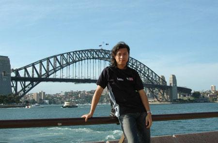 Thành Vinh ngày mới sang Australia du học.