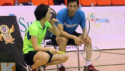Tiến Minh và Vũ Thị Trang đều bại trận tại bán kết VietNam Open 2014