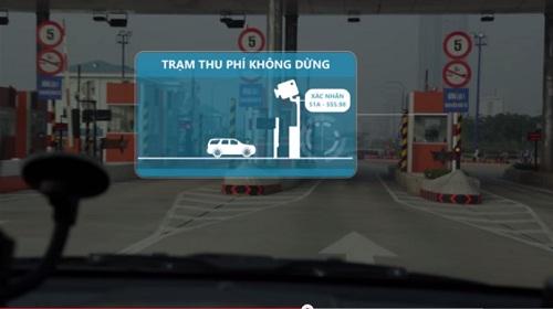 Hệ thống trạm thu phí không dừng phương tiện đã được ứng dụng tại Việt Nam.