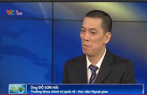 Ông Đỗ Sơn Hải - Trưởng khoa Chính trị quốc tế - Học viện Ngoại giao