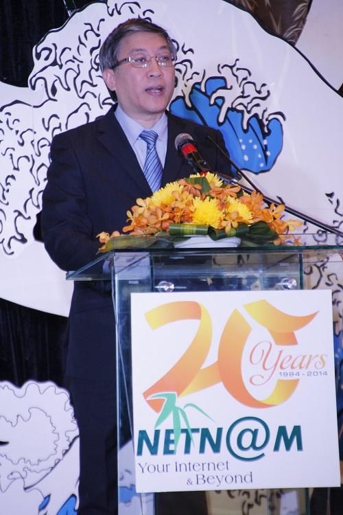 Thứ trưởng Bộ TT-TT Lê Nam Thắng phát biểu tại sự kiện kỷ niệm 20 thành lập NetNam