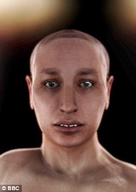 Khuôn mặt thực tế của vua Tutankhamun qua kỹ thuật tái hiện hình ảnh.
