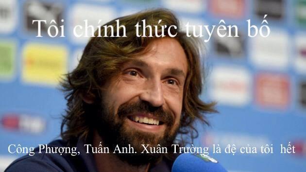Pirlo có thêm... em sau khi xem U19 Việt Nam thi đấu trận đấu tối qua (11/9).