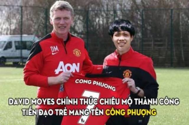 Man Utd chiêu mộ Công Phượng và trao áo số 7 huyền thoại? Tất nhiên điều này khó có thể xảy ra khi David Moyes đã bật bãi còn Arsenal đời nào chịu để tài năng ở học viện của mình dễ dàng đầu quân tron kình địch