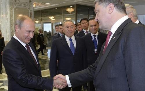 Tổng thống Nga và Ukraine gặp mặt song phương