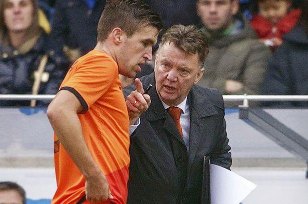 Strootman và HLV Van Gaal ở đội tuyển Hà Lan