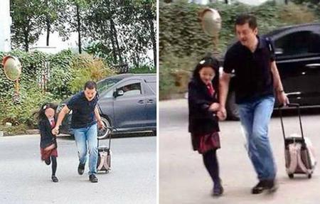 Lý Á Bằng đưa con gái đến trường ngày 25/9. Li Yan là con chung giữa Vương Phi và Lý Á Bằng. Hiện cô bé đang sống với bố. Vương Phi cũng có một cô con gái riêng 16 tuổi, hiện đang theo học ở nước ngoài.
