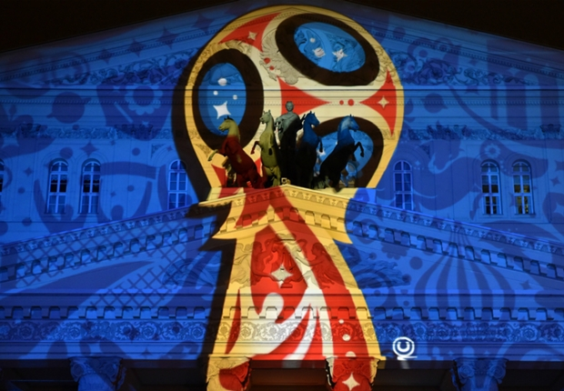 World Cup 2018 sở hữu 4 màu chủ đạo : đỏ, trắng, vàng, xanh dương