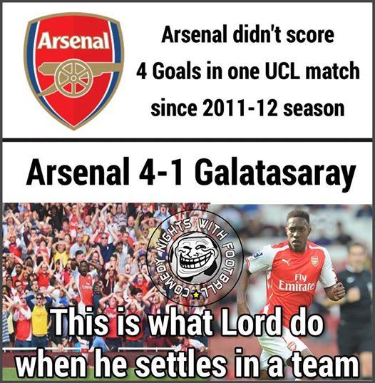 """Kể từ mùa bóng 2011-12, Arsenal chưa từng ghi được 4 bàn. Và """"thánh"""" Welbeck đã giúp The Gunners tái hiện thành tích ấy ở trận này."""