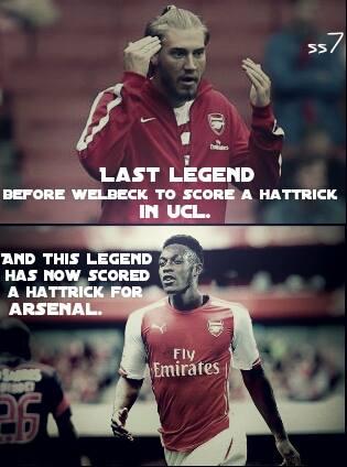 """Người cuối cùng trước Welbeck ghi được 1 hat-trick cho Arsenal chính là """"thánh"""" Bendner."""