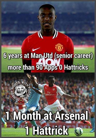 6 năm chưa từng ghi hat-trick cho Man Utd, ấy vậy mà vừa về Arsenal có hơn 1 tháng...