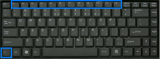 Bàn phím Laptop có thêm phím chức năng Fn