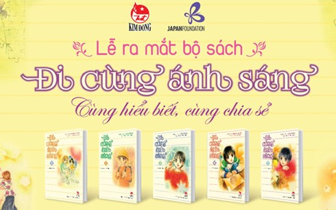 """Bộ truyện tranh""""Đi cùng ánh sáng""""gồm 15 tập sẽ được Nhà xuất bản Kim Đồng phát hành trên toàn quốc lần lượt làm 3 đợt, mỗi đợt 5 tập."""