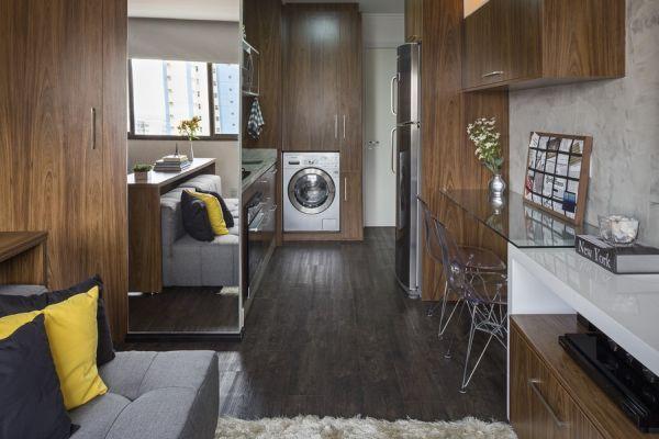 Thiết kế mở với đầy đủ các khu vực chức năng trong căn hộ.