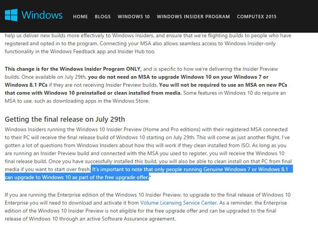 Điều khoản bổ sung của Microsoft (phần bôi đen)