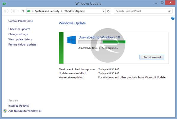 Người dùng không có tùy chọn khác ngoài việc khởi động lại máy và nâng cấp lên Windows 10