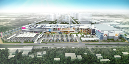 Quy mô rộng lớn của AEON MALL Long Biên. (Ảnh: Vietnamnet)