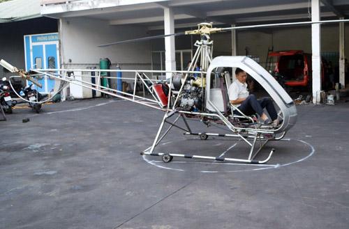 Chiếc trực thăng tự chế thứ hai được thiết kế hiện đại và an toàn hơn