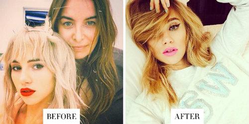 Sau những thành công nhất định, người mẫu Suki Waterhouse thay đổi màu tóc thành highlight vàng caramel đầy cá tính, làm nổi bật làn da.
