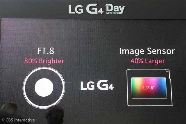 LG G4 được trang bị camera có khẩu độ f/1.8