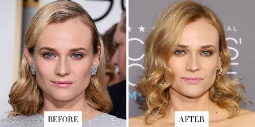 Nữ diễn viên Diane Kruger chọn màu tóc vàng để tạo nên vẻ đẹp lộng lẫy, quý phái.